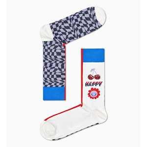 Calze Donna Fantasia Happy Socks Half/half Optic Sock art. HHA01 6300