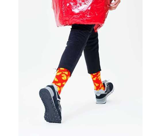 Calze donna fantasia pizza sfondo rosso happy socks pizza sock art. piz01 4000 %283%29