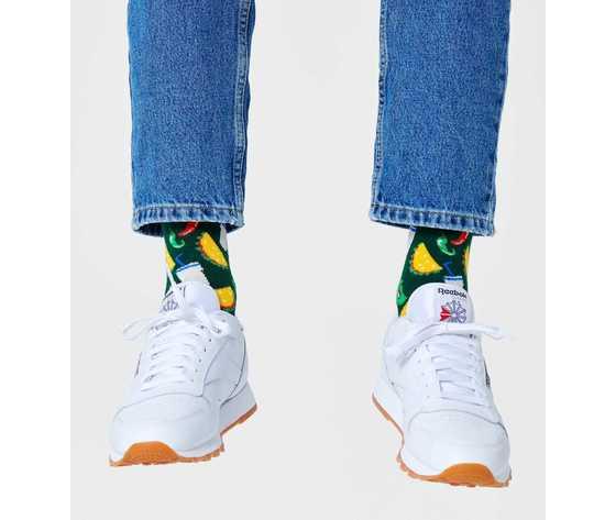Calze uomo taco sfondo verde happy socks taco sock art. tac01 7000 %282%29