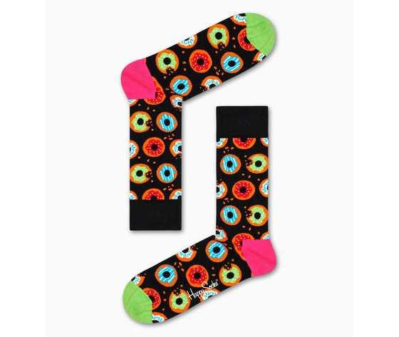 Calze uomo fantasia ciambelle fondo nero happy socks donut sock art. don01 9300 %281%29