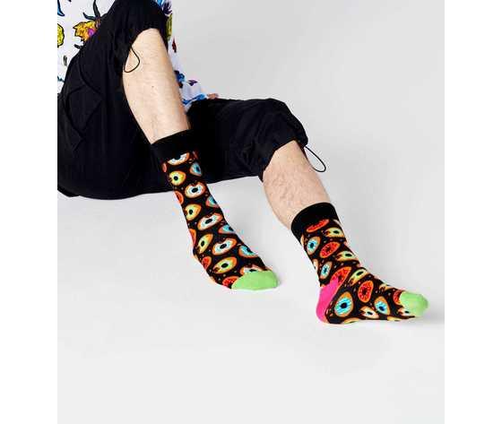 Calze uomo fantasia ciambelle fondo nero happy socks donut sock art. don01 9300 %284%29