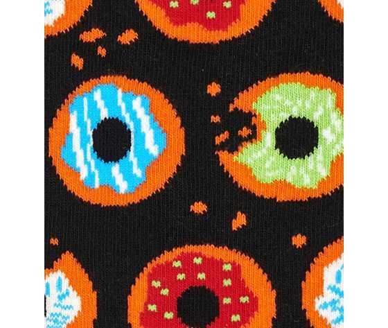 Calze uomo fantasia ciambelle fondo nero happy socks donut sock art. don01 9300 %282%29