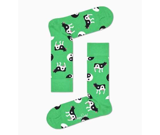 Calze donna fantasia ying yang cow sock happy socks art. yyc01 7300 1 %282%29