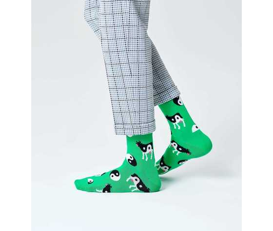Calze donna fantasia ying yang cow sock happy socks art. yyc01 7300