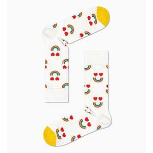 Calze Donna Fantasia Sorriso Arcobaleno e Cuori Happy Socks Happy Rainbow Sock art. HAR01 1300