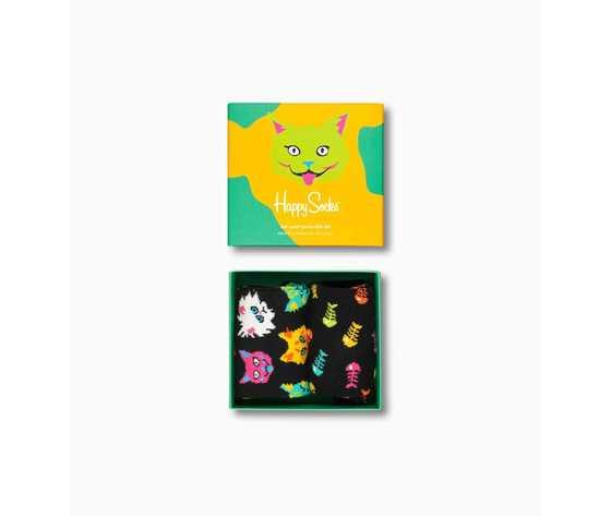 Calze donna scatola set regalo fantasia gatti happy socks cat lover gift box 2 pack art. xcat02 6301 %284%29