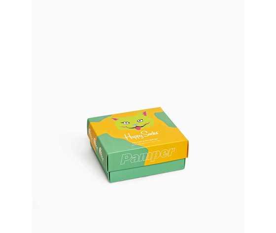 Calze donna scatola set regalo fantasia gatti happy socks cat lover gift box 2 pack art. xcat02 6301 %283%29