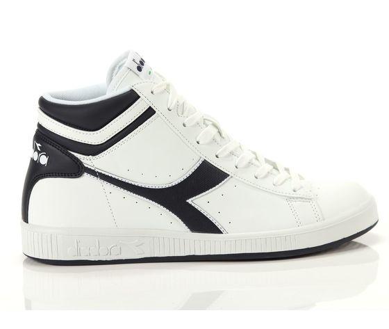 Scarpe unisex game p high bianco  blu diadora alte sneakers art. 160277 c4656 %281%29