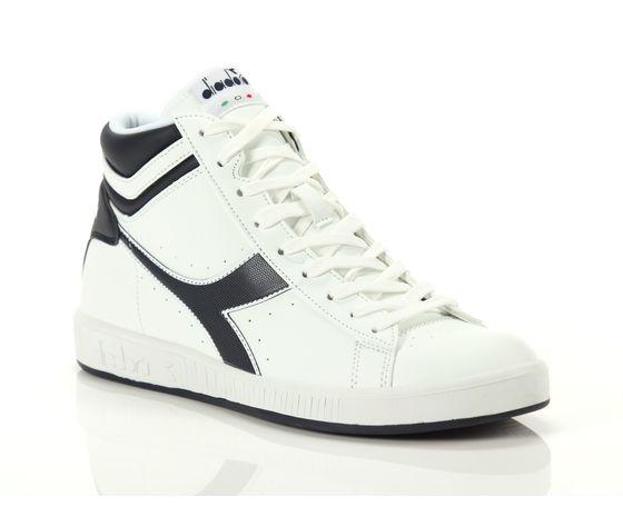 Scarpe unisex game p high bianco  blu diadora alte sneakers art. 160277 c4656 %282%29
