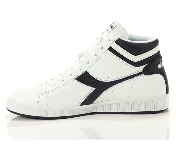 Scarpe unisex game p high bianco  blu diadora alte sneakers art. 160277 c4656 %283%29