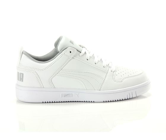 Scarpe unisex puma bianco rebound layup low jr sneakers basse art. 370490 03 1