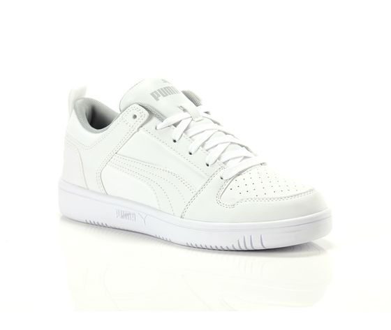 Scarpe unisex puma bianco rebound layup low jr sneakers basse art. 370490 03