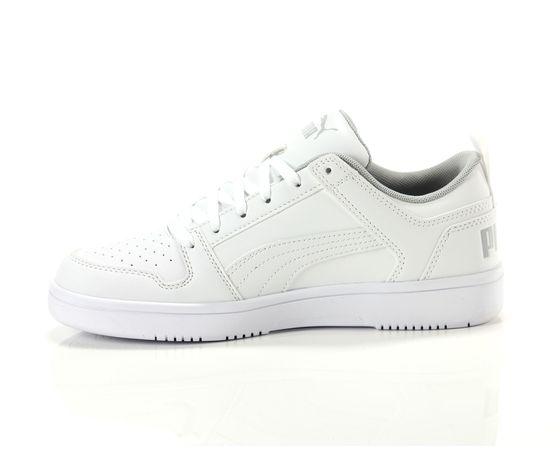 Scarpe unisex puma bianco rebound layup low jr sneakers basse art. 370490 03 3