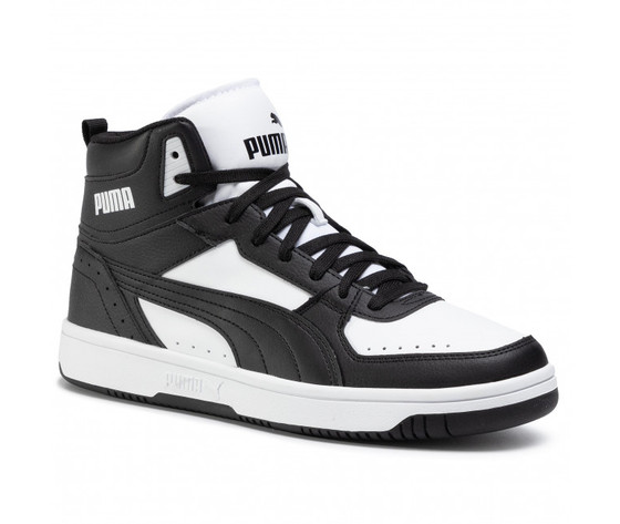 Scarpe uomo puma rebound joy nero  bianco sneakers alte art. 374765 01 1