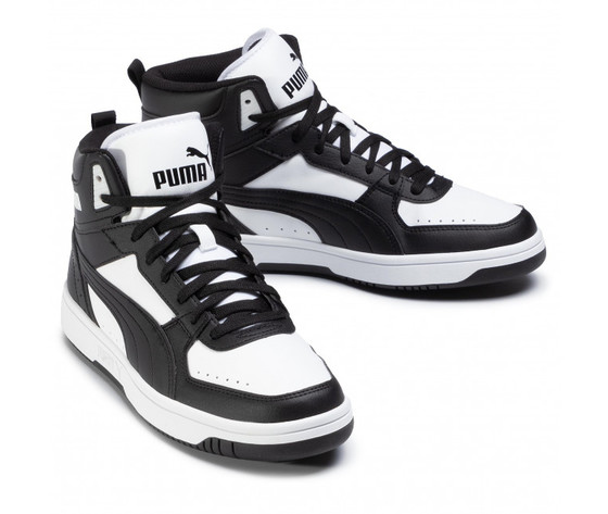 Scarpe uomo puma rebound joy nero  bianco sneakers alte art. 374765 01 3
