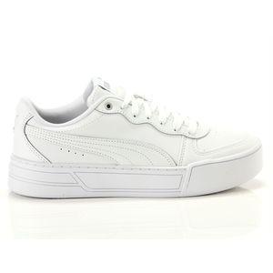 Scarpe Donna Puma Skye Platform in Pelle Bianco Sneakers Para Alta art. 374764 01