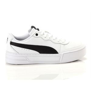 Scarpe Donna Puma Skye Platform in Pelle Bianco / Nero Sneakers Para Alta art. 374764 02