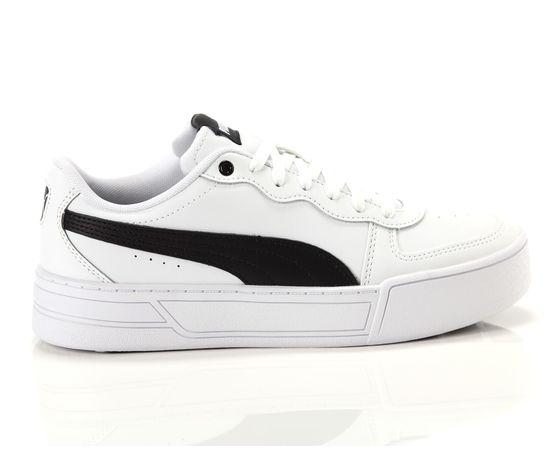 Scarpe donna puma skye platform in pelle bianco  nero sneakers para alta art. 374764 02 1