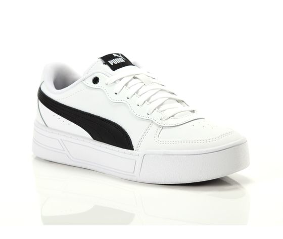 Scarpe donna puma skye platform in pelle bianco  nero sneakers para alta art. 374764 02