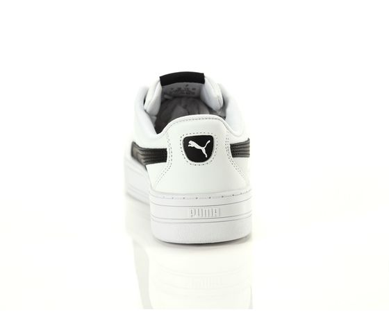 Scarpe donna puma skye platform in pelle bianco  nero sneakers para alta art. 374764 02 2
