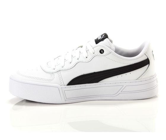 Scarpe donna puma skye platform in pelle bianco  nero sneakers para alta art. 374764 02 3