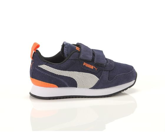 Scarpe bambino blu  grigio  arancio con strappi puma r78 sd ps art. 368590 02 1