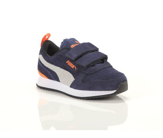 Scarpe bambino blu  grigio  arancio con strappi puma r78 sd ps art. 368590 02