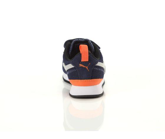 Scarpe bambino blu  grigio  arancio con strappi puma r78 sd ps art. 368590 02 2