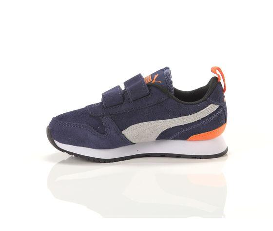Scarpe bambino blu  grigio  arancio con strappi puma r78 sd ps art. 368590 02 3