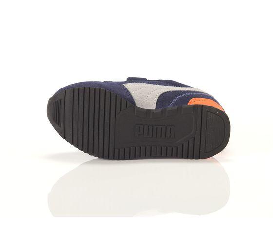Scarpe bambino blu  grigio  arancio con strappi puma r78 sd ps art. 368590 02 4