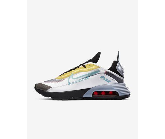 Scarpe uomo nike air max 2090 bianco nero speed yellow bleached aqua sneakers basse art. ct1091 100