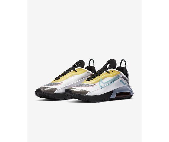 Scarpe uomo nike air max 2090 bianco nero speed yellow bleached aqua sneakers basse art. ct1091 100 4