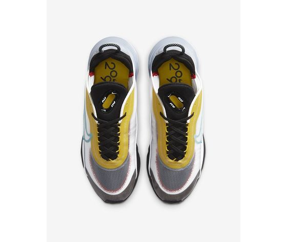 Scarpe uomo nike air max 2090 bianco nero speed yellow bleached aqua sneakers basse art. ct1091 100 3