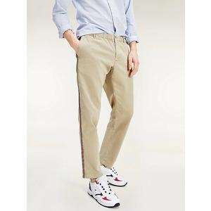 Pantaloni Uomo Tommy Hilfiger Surplus Khaki Chino Stretch Dettagli Sul Lato art. MW0MW13324RFO