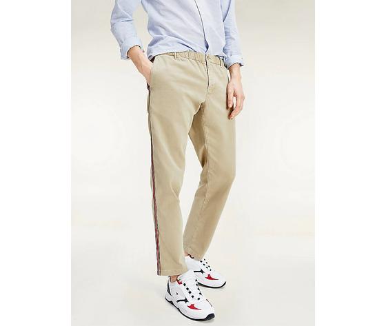 Pantaloni uomo tommy hilfiger surplus khaki chino stretch dettagli sul lato art. mw0mw13324rfo 4