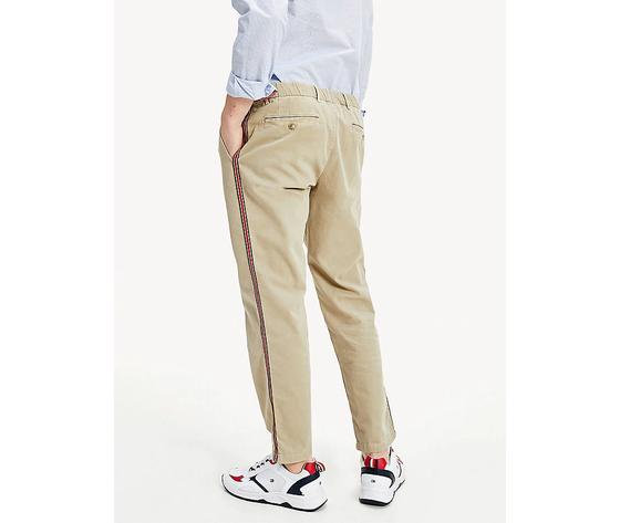 Pantaloni uomo tommy hilfiger surplus khaki chino stretch dettagli sul lato art. mw0mw13324rfo 2
