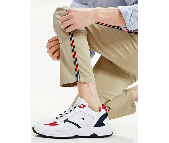 Pantaloni uomo tommy hilfiger surplus khaki chino stretch dettagli sul lato art. mw0mw13324rfo 3