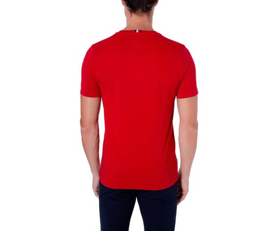 T shirt uomo tommy hilfiger rossa con fascia rossa bianca e blu e logo art. mw0mw14337xlg 2