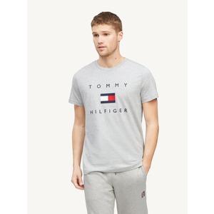 T-shirt Tommy Hilfiger Grigia Cotton Flag Logo Cotone Bio art. MW0MW14313PG5
