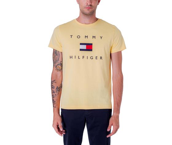 T shirt uomo tommy hilfiger gialla sun ray flag logo art. mw0mw14313zfb%c3%b9