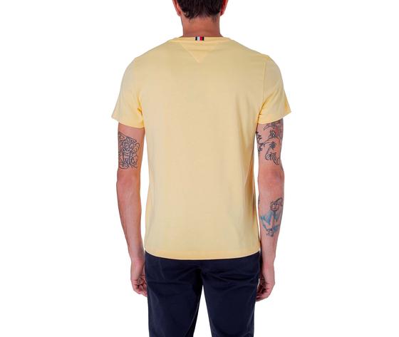 T shirt uomo tommy hilfiger gialla sun ray flag logo art. mw0mw14313zfb 1