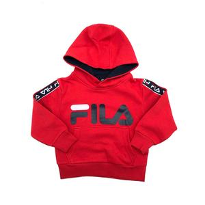 Felpa Con Cappuccio Rossa Bambini Fila Kids Lisa Taped Hoody Girl art. 688028 006
