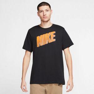 Tshirt Nike Nera NSW Block Font Uomo art. CK2777 010