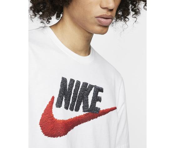 T shirt bianca nike uomo icon futura art. ar4993 100  2