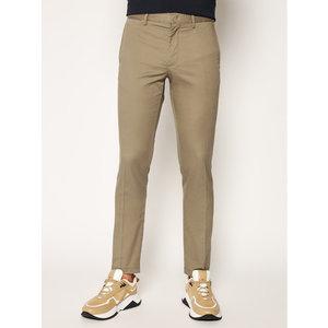 Pantaloni Uomo Tommy Hilfiger Marroni Slim Fit Tessuto Stoffhose Bleecker Flex Soft Twill art. MW0MW13853 GPF