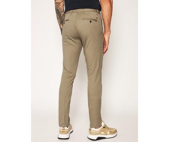 Pantaloni uomo tommy hilfiger marroni slim fit tessuto stoffhose bleecker flex soft twill art. mw0mw13853 gpf 2