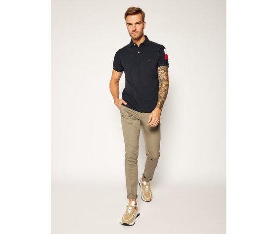Pantaloni uomo tommy hilfiger marroni slim fit tessuto stoffhose bleecker flex soft twill art. mw0mw13853 gpf 1