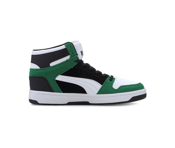 Scarpe uomo puma rebound layup sd high bianco nero verde sneakers alte art. 370219 05 11