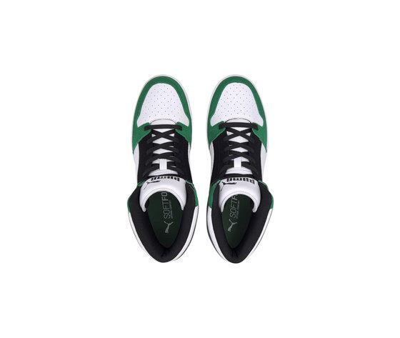 Scarpe uomo puma rebound layup sd high bianco nero verde sneakers alte art. 370219 05 %284%29