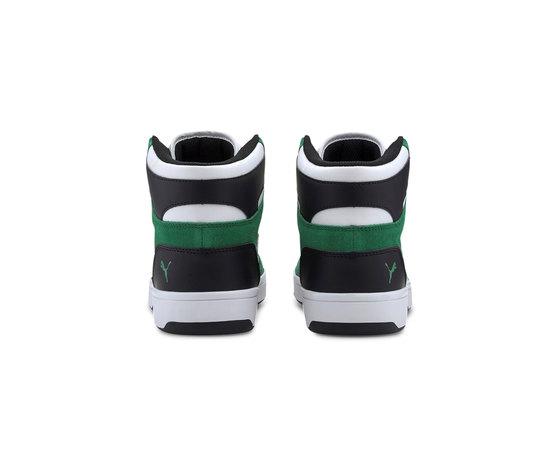 Scarpe uomo puma rebound layup sd high bianco nero verde sneakers alte art. 370219 05 %281%29